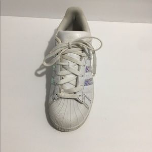 Adidas shoe marque aux 3 banded superstar